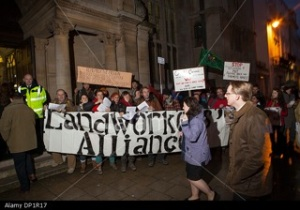 Landworkers' Alliance picket Oxford Farming Conference